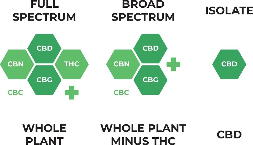 what is CBD full spectrum, broad spectrum, isolate